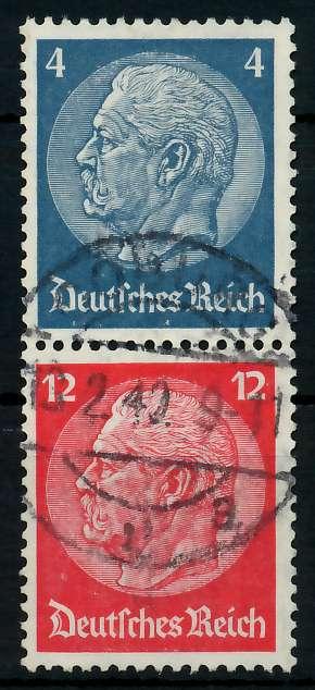D-REICH ZUSAMMENDRUCK Nr S163 zentrisch gestempelt SENKR PAA 7A63BE