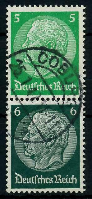 D-REICH ZUSAMMENDRUCK Nr S187 zentrisch gestempelt SENKR PAA 7A670A