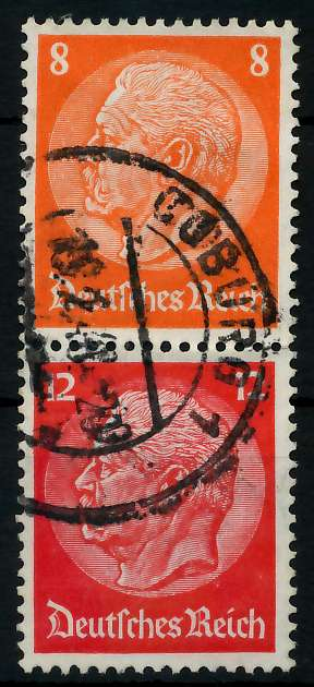 D-REICH ZUSAMMENDRUCK Nr S201 zentrisch gestempelt SENKR PAA 7A682E