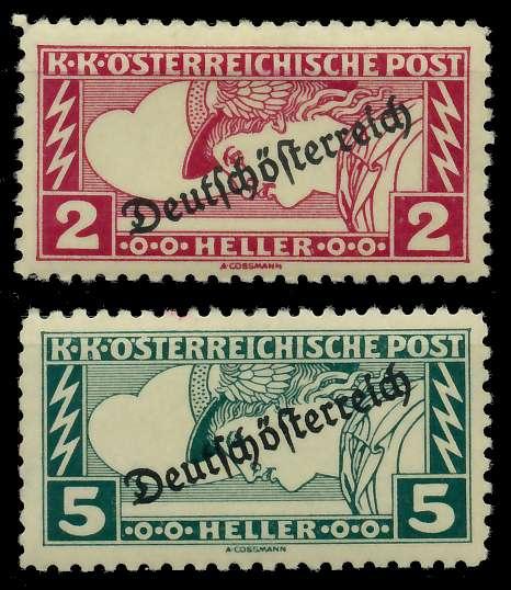ÖSTERREICH 1919 Nr 252B-253B ungebraucht 7A846A