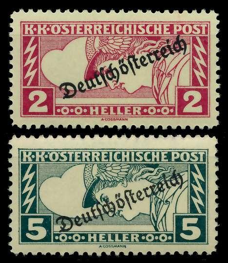 ÖSTERREICH 1919 Nr 252A-253A ungebraucht 7A8476