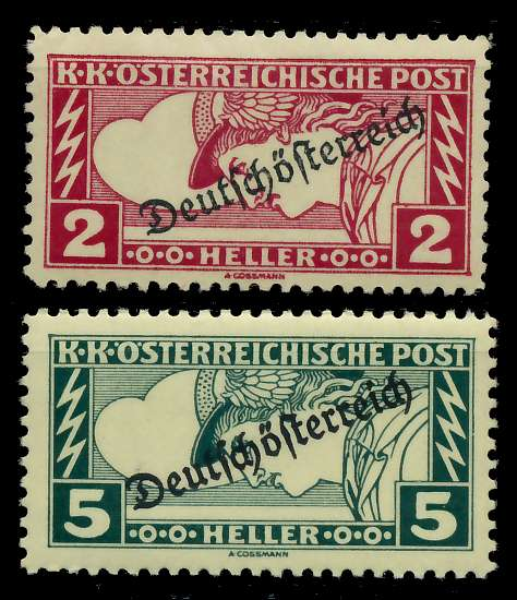 ÖSTERREICH 1919 Nr 252A-253A ungebraucht 7A847A