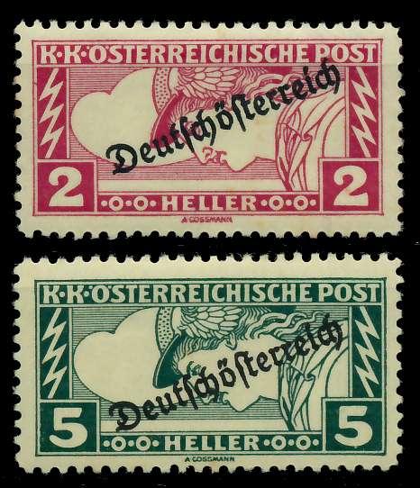 ÖSTERREICH 1919 Nr 252A-253A ungebraucht 7A847E