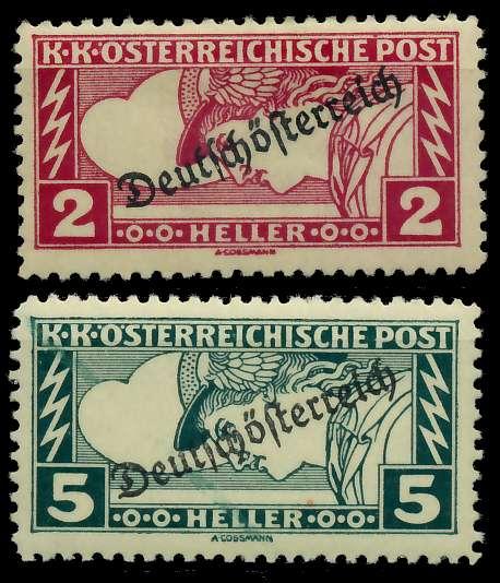 ÖSTERREICH 1919 Nr 252A-253A ungebraucht 7A848A