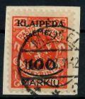 MEMEL 1923 Nr 127 gestempelt Briefst³ck gepr. 7B245A