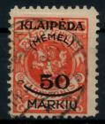 MEMEL 1923 Nr 126 gestempelt gepr. 7B2462