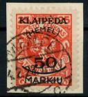 MEMEL 1923 Nr 126 gestempelt Briefst³ck gepr. 7B2466