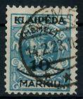 MEMEL 1923 Nr 124 gestempelt gepr. 7B246E
