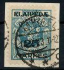MEMEL 1923 Nr 125 zentrisch gestempelt Briefst³ck gepr. 7B247A
