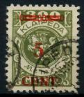 MEMEL 1923 Nr 174Ie gestempelt gepr. 7B2486