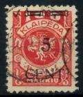 MEMEL 1923 Nr 180II zentrisch gestempelt gepr. 7B248E