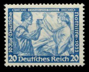 3. REICH 1933 Nr 505A ungebraucht ATTEST 6DA5BA