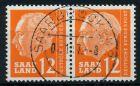 SAAR OPD 1957 Nr 414 zentrisch gestempelt WAAGR PAAR 79C9AE