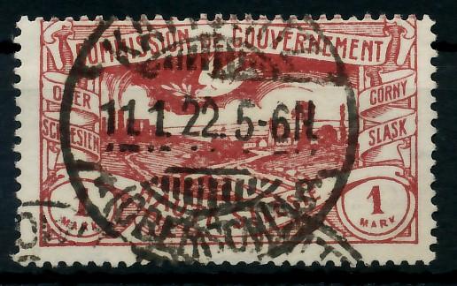 ABSTG OBERSCHLESIEN Nr 26c gestempelt gepr. 7B7BD6