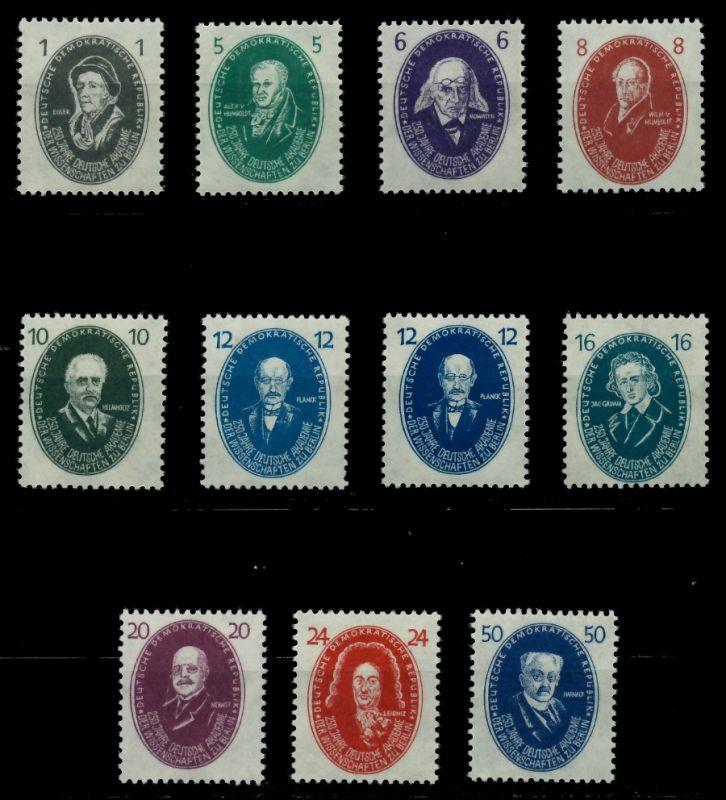 DDR 1950 Nr 261-270(a+b) postfrisch 7BAB92