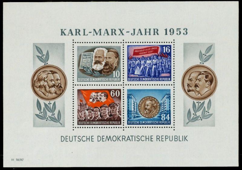DDR BLOCK KLEINBOGEN Block 9AYII postfrisch 7BAD9E