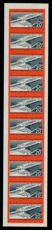 DDR 1960 Nr 805B-10er Streifen mit 805BI postfrisch RX 7BCFE2