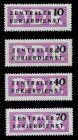 DDR DIENST VWP-A Nr 6-9 postfrisch 7BD0D6