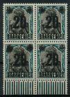 SAARGEBIET GERMANIA Nr 50 postfrisch VIERERBLOCK 7B23E6