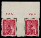 SAARLAND 1949 Nr 264ZW postfrisch WAAGR PAAR 7BD386