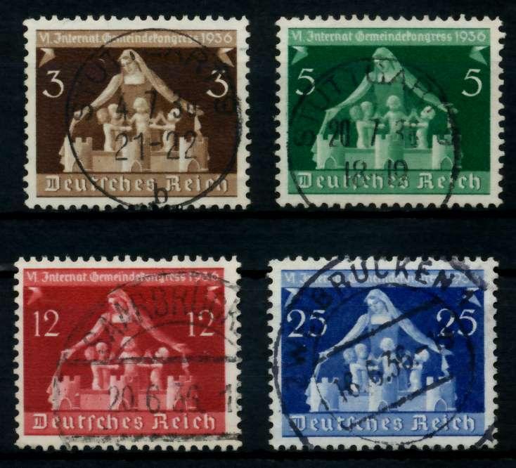 3. REICH 1936 Nr 617-620 gestempelt 7297D2