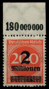 D-REICH INFLA Nr 309APc OR postfrisch ORA gepr. 72B62A