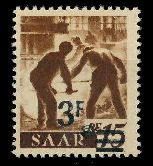 SAARLAND 1947 Nr 230ZI postfrisch gepr. 7D137E
