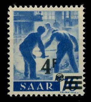 SAARLAND 1947 Nr 231ZI postfrisch ungebraucht gepr. 7D1382