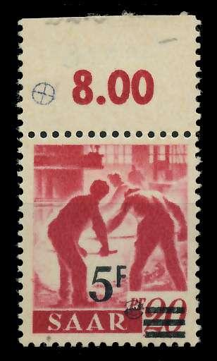SAARLAND 1947 Nr 232ZI postfrisch ungebraucht 7D1386