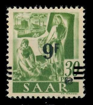 SAARLAND 1947 Nr 234ZI postfrisch gepr. 7D138A