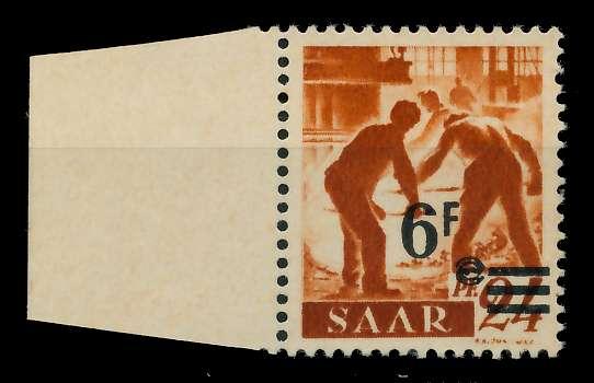 SAARLAND 1947 Nr 233ZI postfrisch gepr. 7D138E