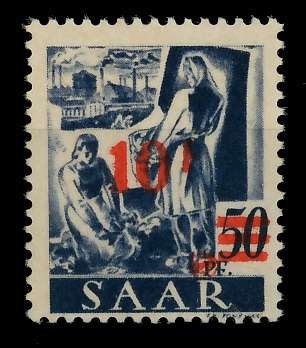 SAARLAND 1947 Nr 235ZI-II postfrisch gepr. 7D139A