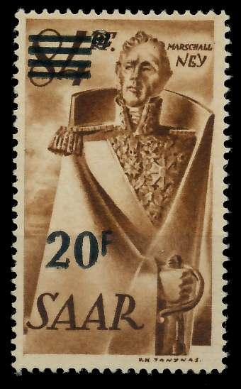 SAARLAND 1947 Nr 237ZI postfrisch ungebraucht gepr. 7D139E