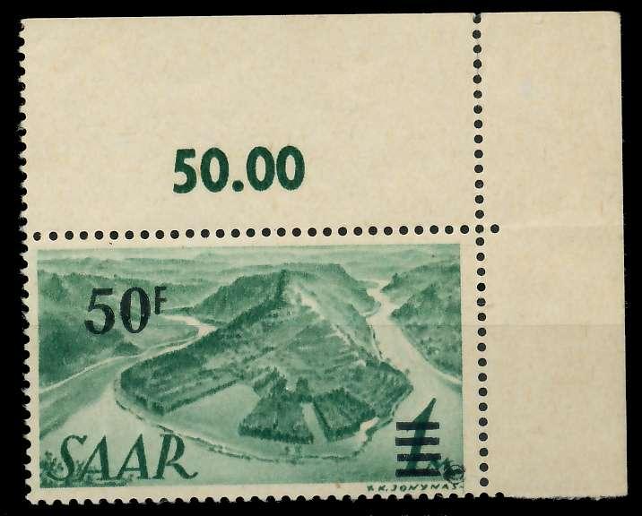 SAARLAND 1947 Nr 238ZI postfrisch gepr. 7D13A2
