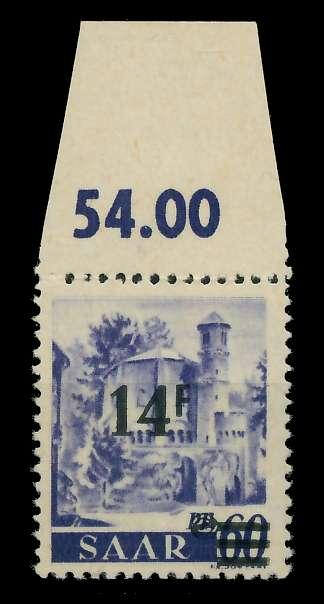 SAARLAND 1947 Nr 236ZI postfrisch ungebraucht gepr. 7D13A6