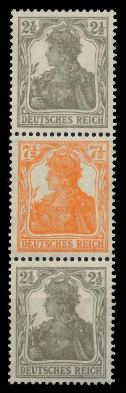 DEUTSCHES REICH ZUSAMMENDRUCKE Nr S12b postfrisch 3ER S 7D13EA