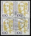 BRD DS FRAUEN Nr 1756 gestempelt VIERERBLOCK 7D7FA6