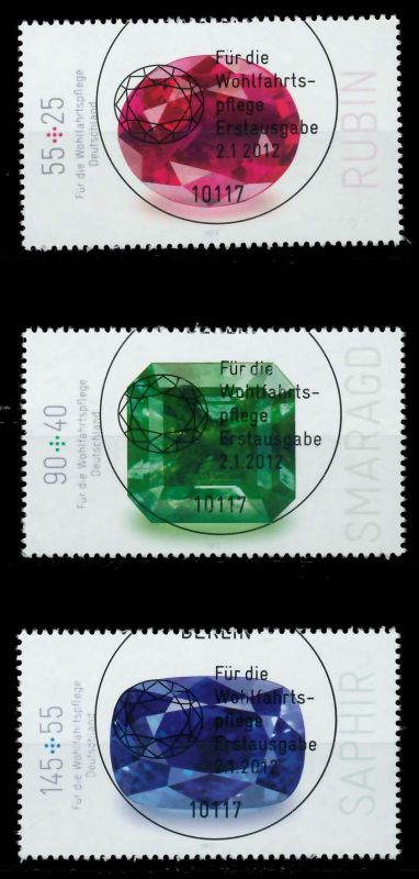 BRD 2012 Nr 2901-2903 ESST zentrisch gestempelt 7D82D6