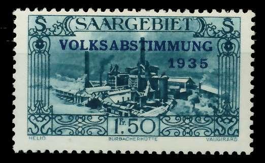 SAARGEBIET 1934 Nr 190 postfrisch 7DA60E