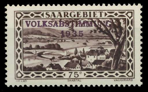 SAARGEBIET 1934 Nr 187 postfrisch 7DA616