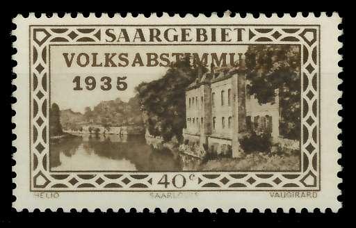 SAARGEBIET 1934 Nr 184 postfrisch 7DA61A
