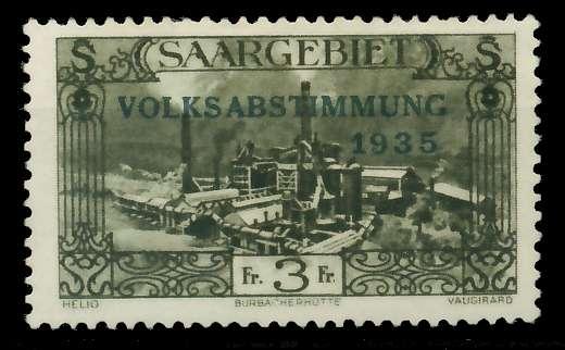 SAARGEBIET 1934 Nr 192 ungebraucht 7DA622
