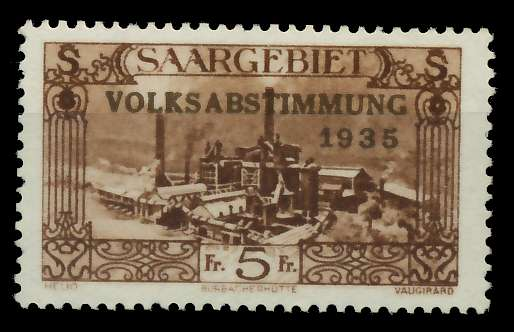 SAARGEBIET 1934 Nr 193 postfrisch 7DA626