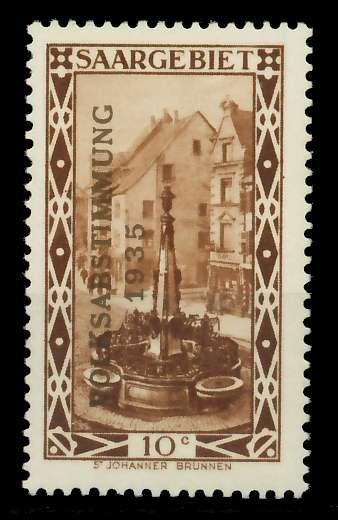 SAARGEBIET 1934 Nr 179 ungebraucht 7DA62A