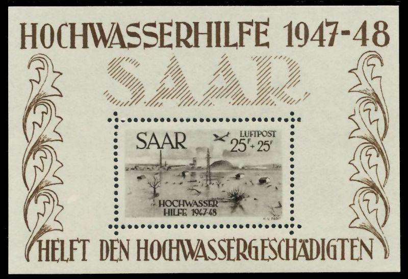 SAARLAND 1948 Block2 postfrisch 7DA72E