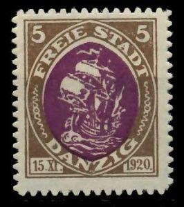 DANZIG 1921 Nr 53 ungebraucht 7DA95A