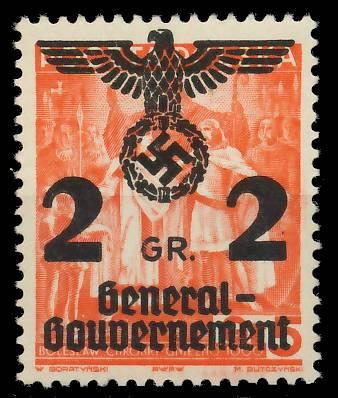 GENERALGOUVERNEMENT Nr 17 postfrisch 7DCEAA
