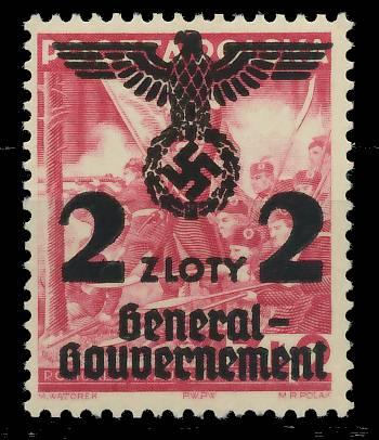 GENERALGOUVERNEMENT Nr 28 postfrisch 7DCECA