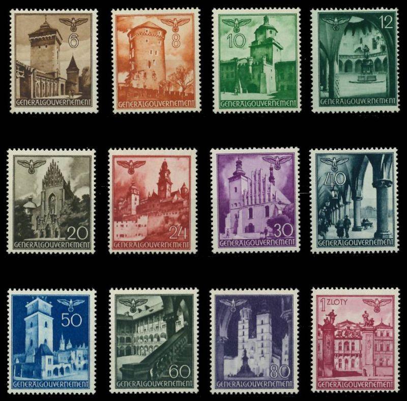 GENERALGOUVERNEMENT 1940 Nr 40-51 postfrisch 7DCEFE