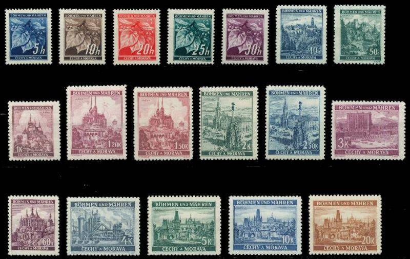 BÖHMEN MÄHREN 1939-1940 Nr 20-37 postfrisch 7DCF62